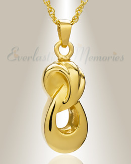 14K Gold Everlasting Infinity Companion Funeral Jewelry