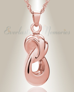 14K Rose Gold Everlasting Infinity Companion Funeral Jewelry