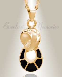 14K Gold Everlasting Companion Infinity Funeral Jewelry
