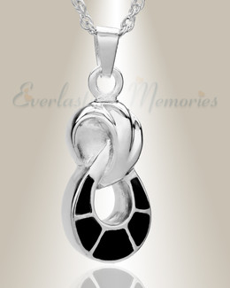 14K White Gold Everlasting Companion Infinity Funeral Jewelry