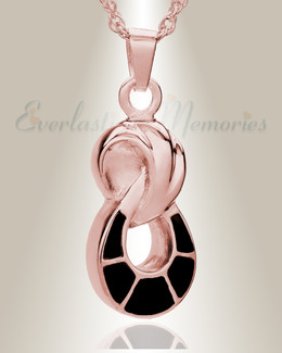 14K Rose Gold Everlasting Companion Infinity Funeral Jewelry