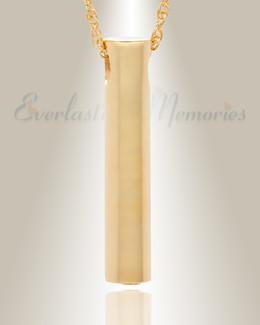 14K Gold Marley Cylinder Cremation Keepsake