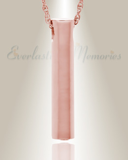 14K Rose Gold Marley Cylinder Cremation Keepsake