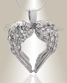 14K White Gold Wings of Hope Memorial Jewelry