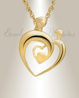 14K Gold Hearts Memorial Locket