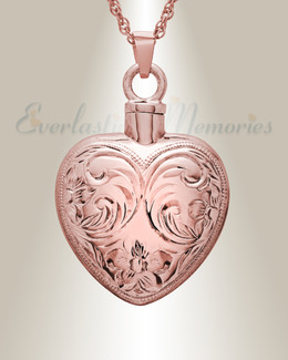 14K Rose Gold Spirit Heart Jewelry Urn