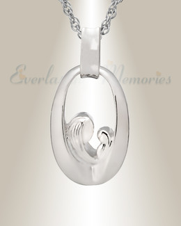 14K White Gold Tender Round Memorial Jewelry
