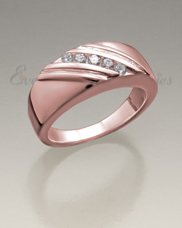 14K Women's Rose Gold Soothing Ashes Cremation Ring