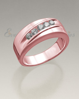 Men's 14K Rose Gold Wondrous Memorial Ring