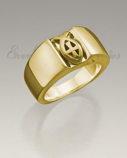 Men's 14K Gold Worthy Ring Jewelry Urn