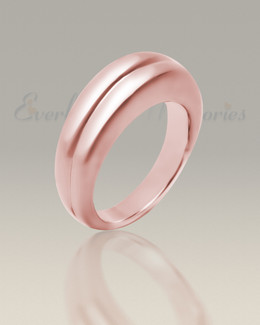 Men's 14K Rose Gold Gentleman's Ashes Ring