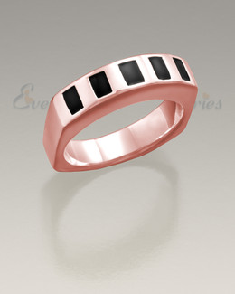 Men's 14K Rose Gold Token Remembrance Ring