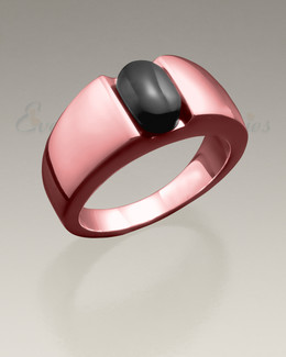 Men's 14K Rose Gold Simply Sable Ashes Ring