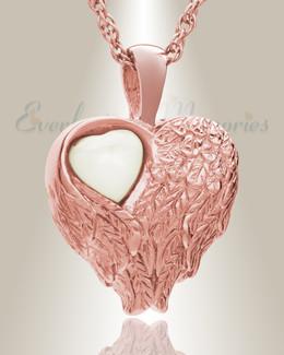 14K Rose Gold Heart of Love Ash Pendant