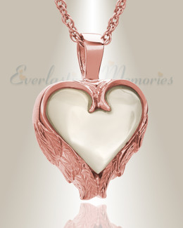 14K Rose Gold Innocent Heart Funeral Jewelry