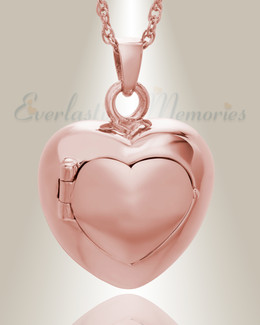 14K Rose Gold Purity Heart Urn Jewelry