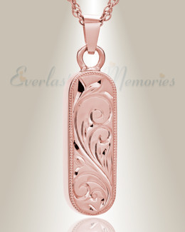 14K Rose Gold Majesty Cylinder Cremation Keepsake