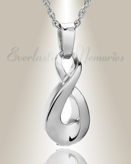 14K White Gold Always Cremation Locket