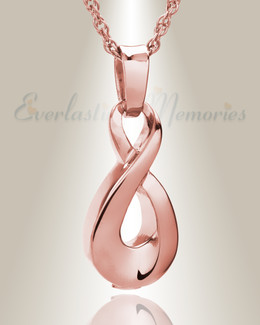 14K Rose Gold Always Cremation Locket