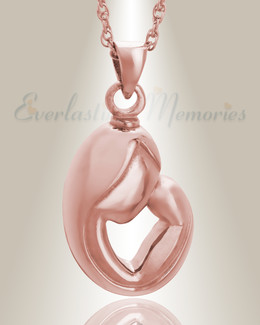14K Rose Gold Mother's Touch Remembrance Pendant