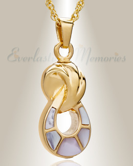 Gold Plated Everlasting Companion Infinity Jewelry Urn