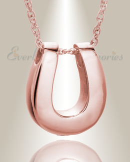 14K Rose Gold Lucky Memorial Pendant