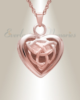 14k Rose Gold Transcending Heart Memorial Pendant