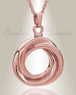14K Rose Gold Ringed Eternity Funeral Jewelry