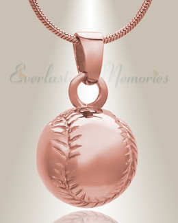 14K Rose Gold Gold Baseball Memorial Jewelry