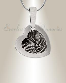 Stainless Steel Warm Heart Fingerprint Necklace