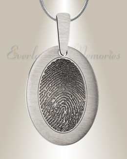 Stainless Steel Mirror Image Fingerprint Necklace