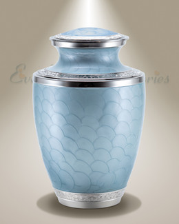 Pearl Beauty Sky Blue Individual Cremation Urn