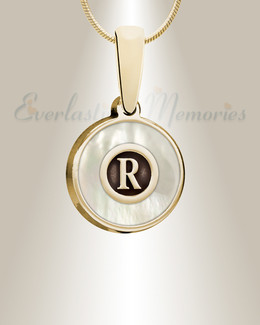 Gold Pearled Monogram Ashes Into Jewelry