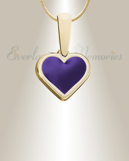 Gold Springtime Heart Ashes Into Jewelry