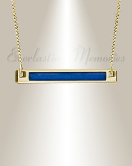 Gold Blue Barred Ashes Into Jewelry