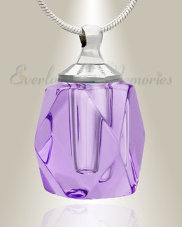 Glass Locket Violet Shasta Cremains Pendant