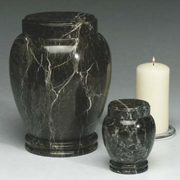 Dark Green Marble Urn