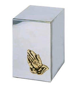 Praying Hands Reflection Urn