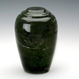 Grecian Antique Verde Marble Urn