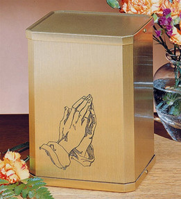 Classic Praying Hands Cremation Urn