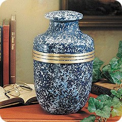 Blue Homeage Cremation Scattering Urn