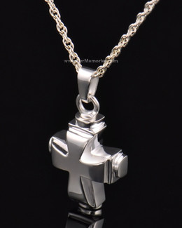 Sterling Silver Classic Cross Cremation Keepsake