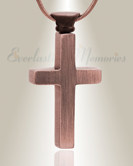 Forever Collection Antique Copper Remembrance Cross Locket Necklace