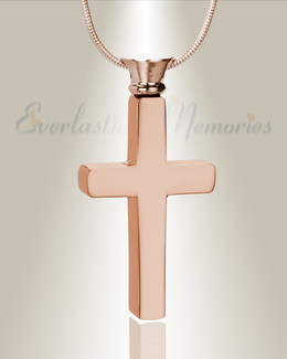 Forever Collection Rose Gold Remembrance Cross Locket Necklace