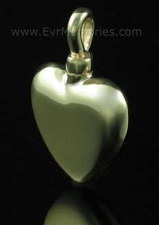 14K Gold Small Heart Memorial Locket