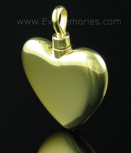 Gold Vermeil Large Heart Jewelry Urn