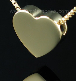 Gold Vermeil Sliding Heart Funeral Jewelry