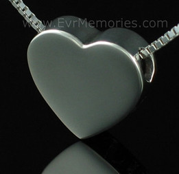 Sterling Silver Sliding Heart Urn Necklace