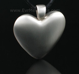 White Bronze Heart Cremation Funeral Jewelry