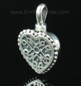 Sterling Silver Filigree Heart Memorial Locket